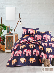 "House of Hampton Elephant Bedding Cover Set Queen (78""x87"" / 200x220cm ) Only Cover Set 3 Pcs."