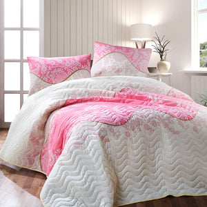 "House of Hampton Pink Powder Bedding Cover Set Queen (78""x87"" / 200x220cm ) Only Cover Set 3 Pcs."