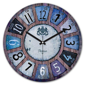 "Wooden Wall Clock 12""x12"" Cadran WT48 - Rattanglobal"