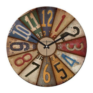 "Wooden Wall Clock 12""x12"" Cadran WT24 - Rattanglobal"