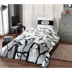 Starwars Stormtroopers Twin / Single Size %100 Cotton Duvet Cover Set Bedding Linens - Rattanglobal