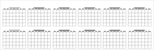 "Dry Erase Extra Large Undated Yearly PVC Vinly Lamination Wall Calendar 36 "" x 96 ""(100 x 250 CM - Rattanglobal"