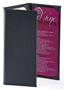 (15 pcs.) Wine List Menu Covers with 3-Panel, 3-Page View Design, Hardback Bar Menu - Rattanglobal