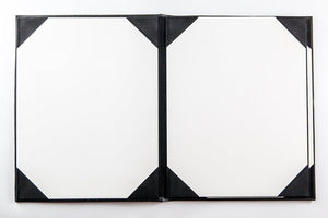 "Menu Covers Made In Italian Faux Leather (10-Pack) - 8.5"" X 11"" - 6 Views Black - Rattanglobal"