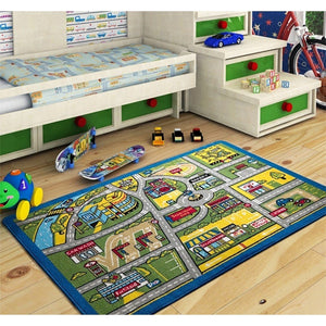"Traffic Theme Kids Rugs Game Carpets for Children (52""X75"") 100X150cm - Rattanglobal"