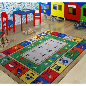 "Rugs for kids Lesson Theme by Antdecor  3'x 5' 39""x 59"" 100x150 cm - Rattanglobal"