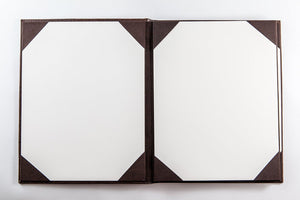 "Menu Covers Made In Italian Faux Leather (12-Pack) - 8.5"" X 11"" - 4 Views - Available 4 Colors - Rattanglobal"