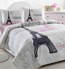 Load image into Gallery viewer, Home Collection Paris Duvet Cover Set Bedding Linens, 4 Pcs - Rattanglobal