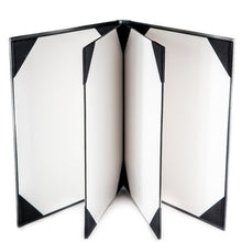 "Load image into Gallery viewer, Menu Covers Made In Italian Faux Leather (10-Pack) - 8.5"" X 11"" - 6 Views Black - Rattanglobal"