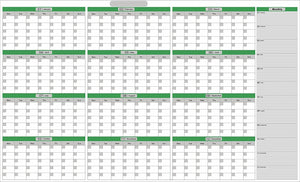 "Extra Large 39"" x 55"" Dry & Wet Erasable Undated Yearly Planner with NO Months Listed. No Ghosting/Staining! - Rattanglobal"
