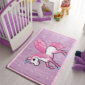 "Pony Theme Super Soft Kids Rug Carpet Floor Mat 3'x 5' 39""x 59"" 100x150 cm - Rattanglobal"