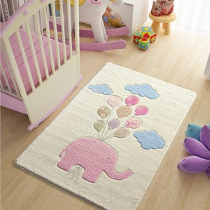 "Sweet Elephant Theme Healty Baby Rugs Carpet Floor Mat 3'x 5' 39""x 59"" 100x150 cm - Rattanglobal"