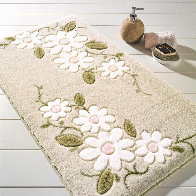 Antdecor Margaritha Theme Non-Slip Bathroom Rug Shag Shower Mat Machine Washable Bath Mats with Water Absorbent Soft, 23