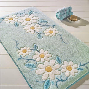 "Antdecor Tenedos Theme Non-Slip Bathroom Rug Shag Shower Mat Machine Washable Bath Mats with Water Absorbent Soft, 23"" W x 39"" 60x100 cm - Rattanglobal"