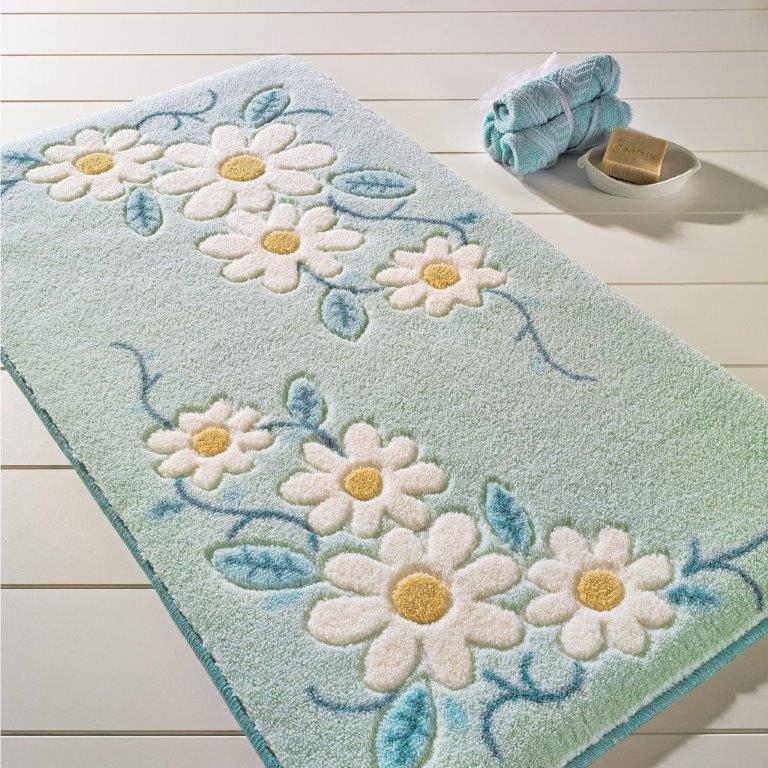 Antdecor Tenedos Theme Non-Slip Bathroom Rug Shag Shower Mat Machine Washable Bath Mats with Water Absorbent Soft, 23