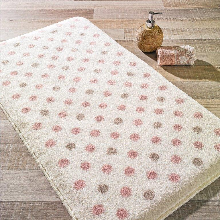 Antdecor Polkar Theme Non-Slip Bathroom Rug Shag Shower Mat Machine Washable Bath Mats with Water Absorbent Soft, 23