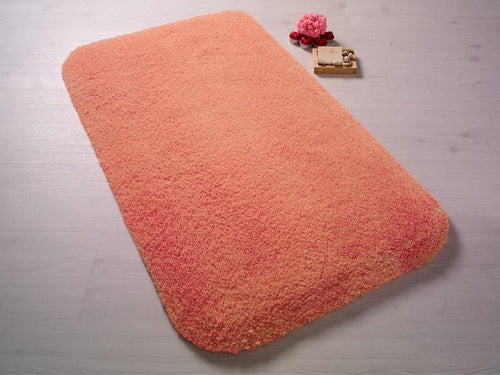 Antdecor Miami Red Theme Non-Slip Bathroom Rug Shag Shower Mat Machine Washable Bath Mats with Water Absorbent Soft, 23