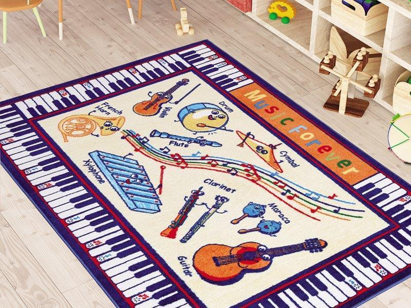 Music Learning Theme Rugs for Kids Large Carpets 7'x10' 79