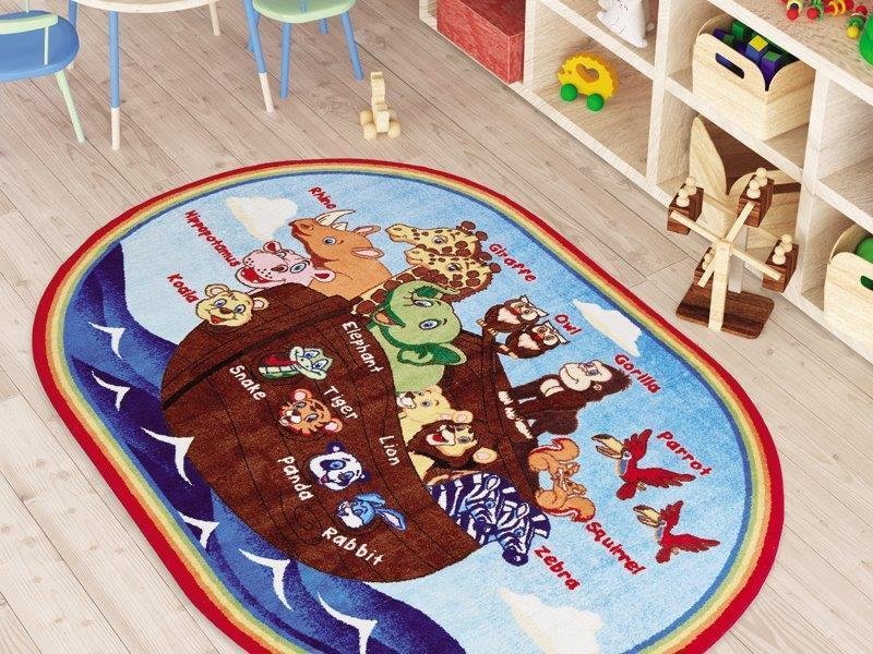 Animal Ship Game Theme Rugs for Kids Large Carpets 7'x10' 79