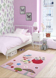 "Butterfly Effect Pink Theme Healty Baby Rugs Antdecor Carpets Floor Mats 3'x 5' 39""x 59"" 100x150 cm - Rattanglobal"
