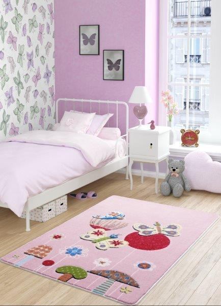 Butterfly Effect Pink Theme Healty Baby Rugs Antdecor Carpets Floor Mats 3'x 5' 39