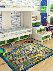 "Rugs for kids Traffic Theme by Antdecor  4'x 6' 52""x 75"" 133x190 cm - Rattanglobal"