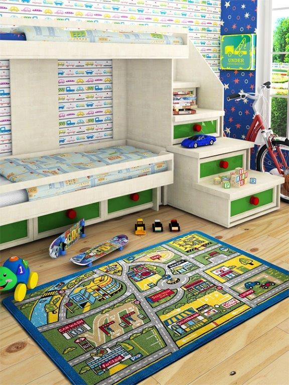 Rugs for kids Traffic Theme by Antdecor  4'x 6' 52