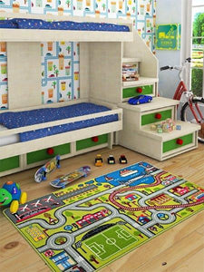 "Rugs for kids Highway Theme by Antdecor  3'x 5' 39""x 62"" 100x150 cm - Rattanglobal"