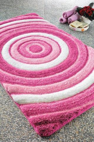 Antdecor Efesu Theme Non-Slip Bathroom Rug Shag Shower Mat Machine Washable Bath Mats with Water Absorbent Soft, 23