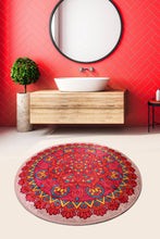 "Load image into Gallery viewer, Antdecor Mandal Round Bath Rug Area Rug Round Rug 40"" 100 cm"