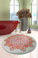 "Load image into Gallery viewer, RugstoreX Royal Round Bath Rug Area Rug Round Rug 40"" 100 cm"
