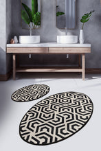 Load image into Gallery viewer, Antdecor Djt 2'li Line Premier Carpet poster, Bathroom Carpet Set Anthracite