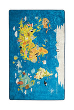 "Load image into Gallery viewer, RugstoreX Word Map Rugs for kids Highway  3'x 5' 39""x 62"" 100x160 cm"
