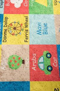 "Antdecor Learning Rugs for kids Highway  3'x 5' 39""x 62"" 100x160 cm"