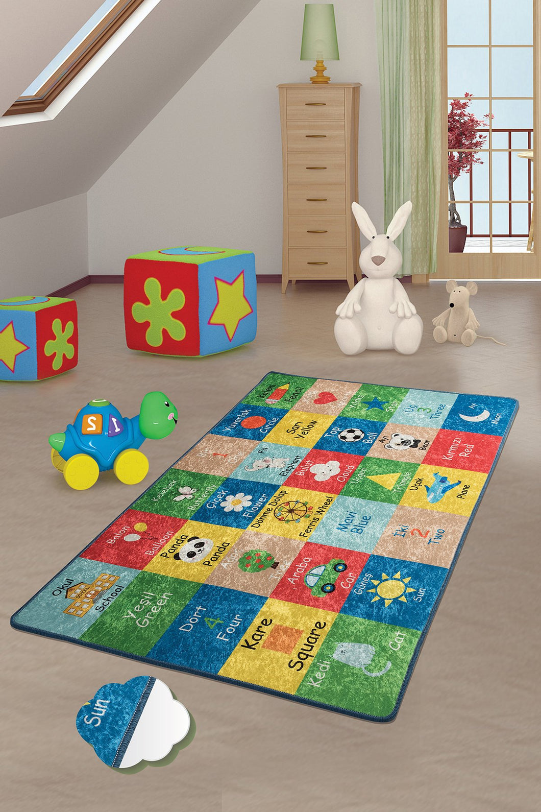 Antdecor Learning Rugs for kids Highway  3'x 5' 39