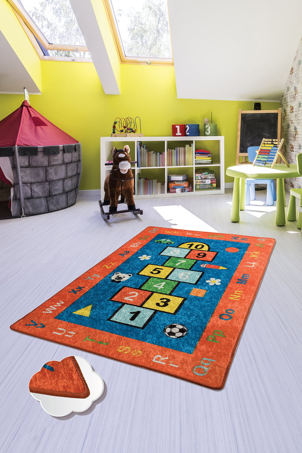 RugstoreX Red Seksek Rugs for kids Highway  3'x 5' 39
