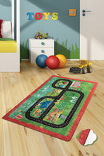 "Load image into Gallery viewer, RugstoreX City Rugs for kids Highway  3'x 5' 39""x 62"" 100x160 cm"