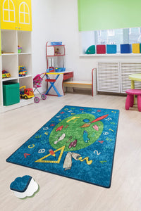 "RugstoreX Coloring Rugs for kids Highway  3'x 5' 39""x 62"" 100x160 cm"