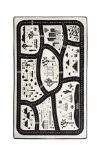 "Load image into Gallery viewer, RugstoreX Black City Rugs for kids Highway  3'x 5' 39""x 62"" 100x160 cm"