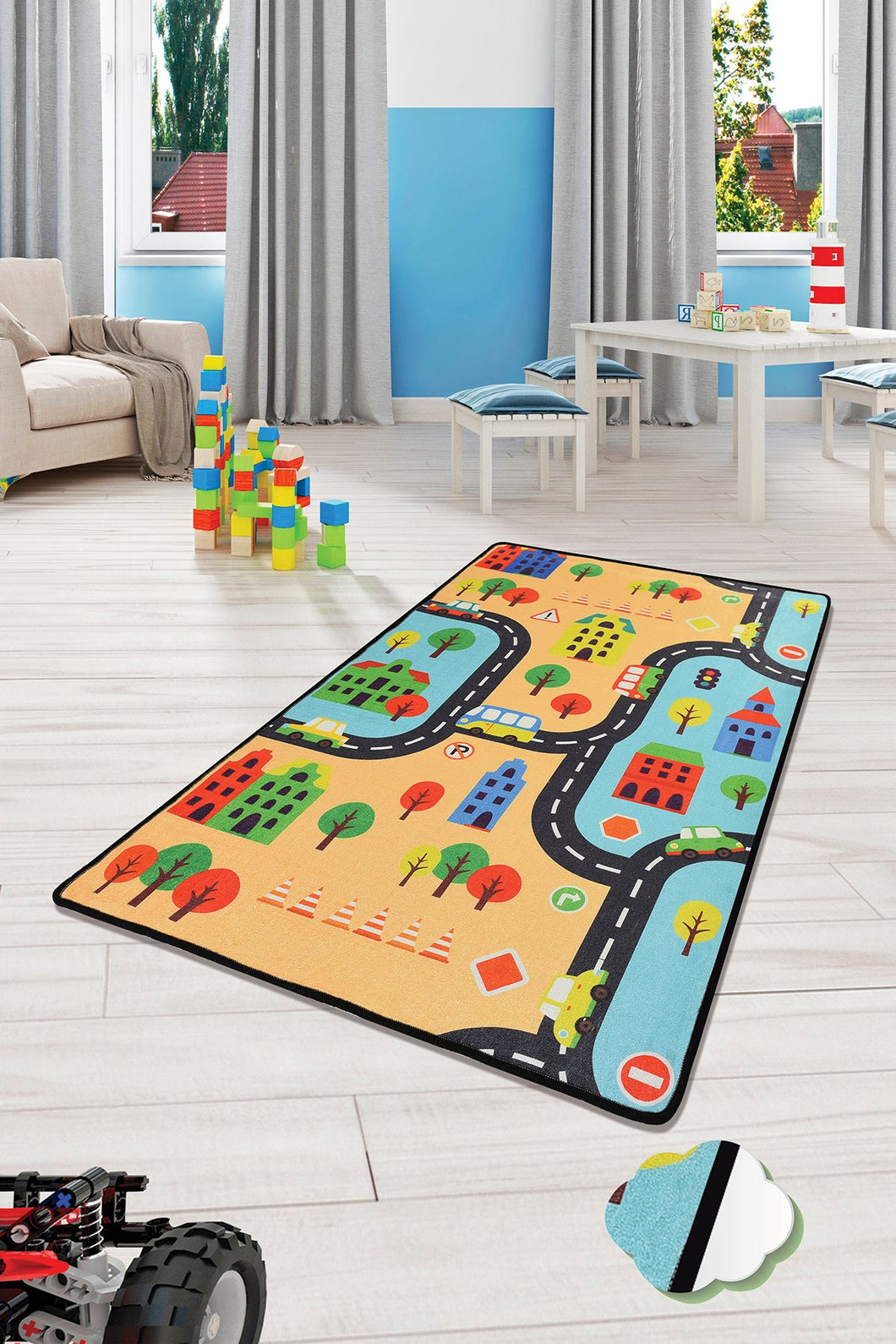RugstoreX Road City Rugs for kids Highway  3'x 5' 39
