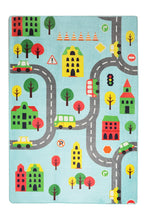 "Load image into Gallery viewer, RugstoreX Road Blue City Rugs for kids Highway  3'x 5' 39""x 62"" 100x160 cm"