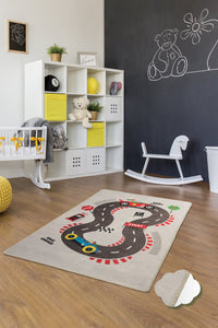 "Antdecor Game  Rugs for kids Highway  3'x 5' 39""x 62"" 100x160 cm"