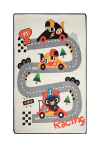 "RugstoreX Race Rugs for kids Highway  3'x 5' 39""x 62"" 100x160 cm"