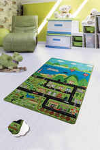 "Load image into Gallery viewer, Antdecor Happy City Rugs for kids Highway  3'x 5' 39""x 62"" 100x160 cm"