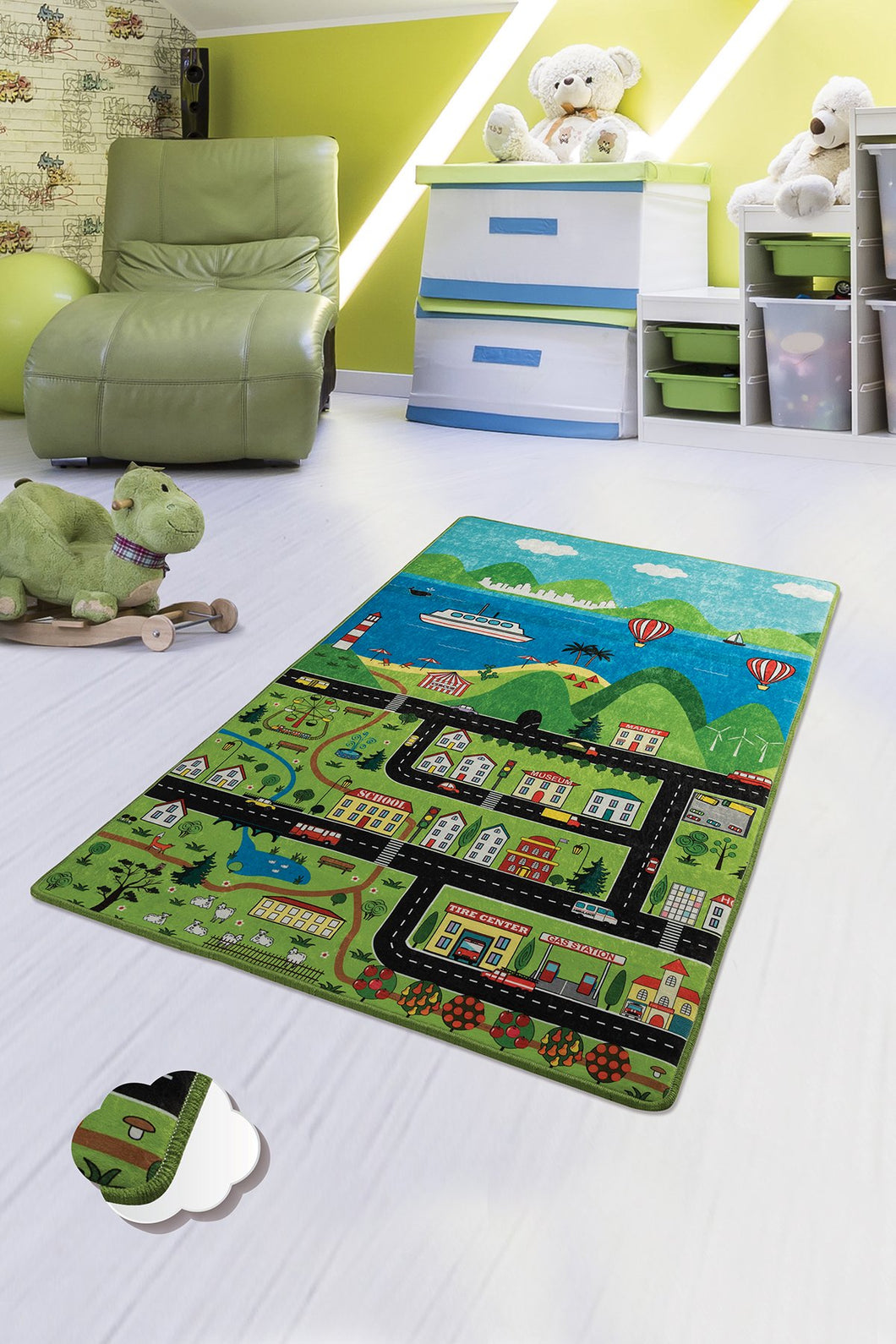 Antdecor Happy City Rugs for kids Highway  3'x 5' 39