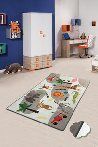 "RugstoreX Safari  Rugs for kids Highway  3'x 5' 39""x 62"" 100x160 cm"