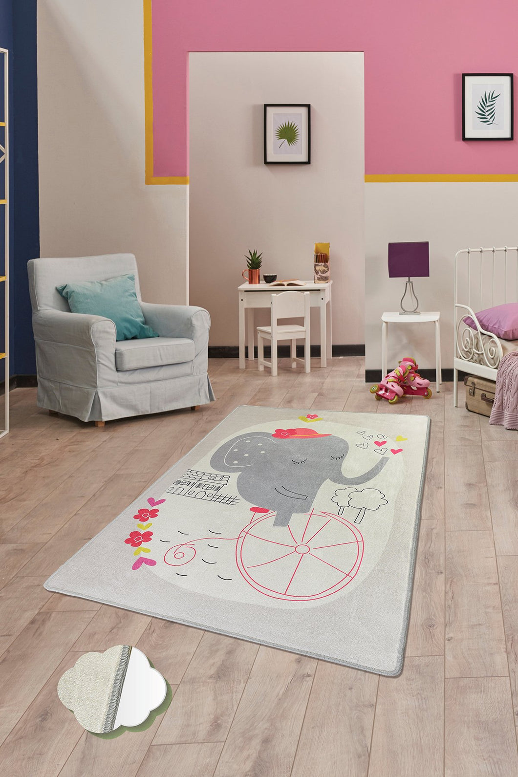 Antdecor Elephants Bike Rugs for kids Highway  3'x 5' 39