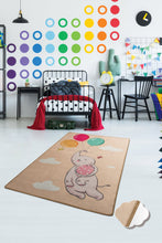 "Load image into Gallery viewer, RugstoreX Balloons Somon Rugs for kids Highway  3'x 5' 39""x 62"" 100x160 cm"