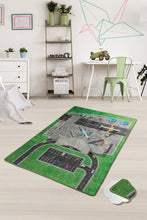 "Load image into Gallery viewer, RugstoreX Airport Rugs for kids Highway  3'x 5' 39""x 62"" 100x160 cm"