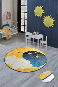 "Antdecor Moon Rugs for kids Highway  3'x 5' 39""x 62"" 100x160 cm"